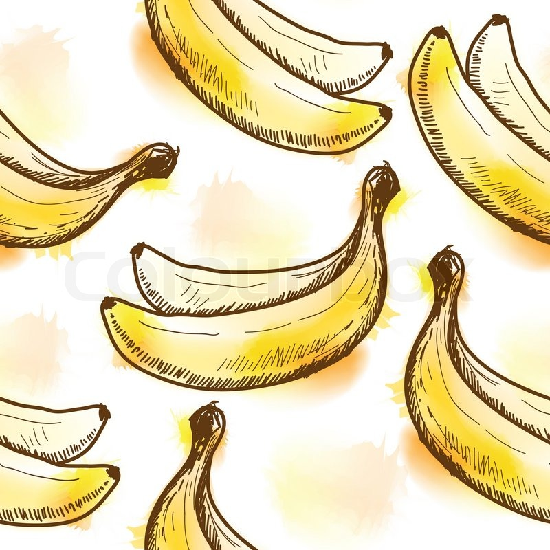 Stock vektor af 'problemfri mønster med banan'