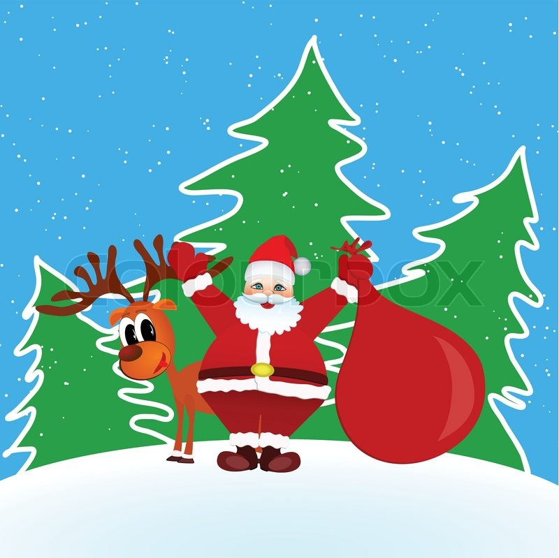 Mery Christmas.Santa Claus Mery Christmas Stock Vector Colourbox
