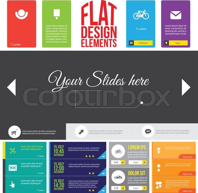 wohnung web design elemente vektorgrafik colourbox. Black Bedroom Furniture Sets. Home Design Ideas