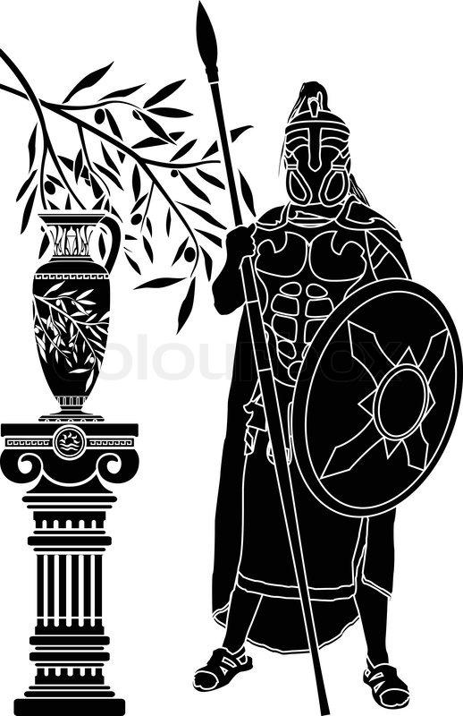 antike griechische mann stencileps vektorgrafik colourbox. Black Bedroom Furniture Sets. Home Design Ideas
