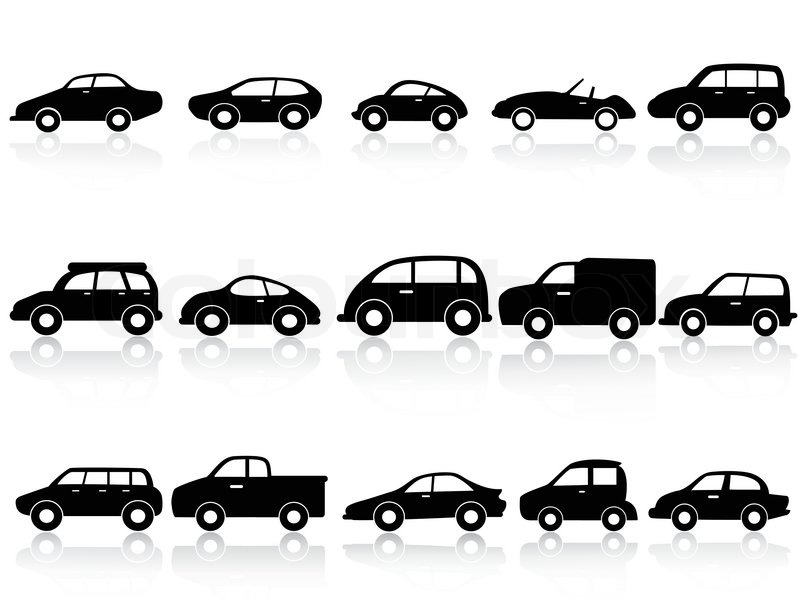 auto silhouette icons