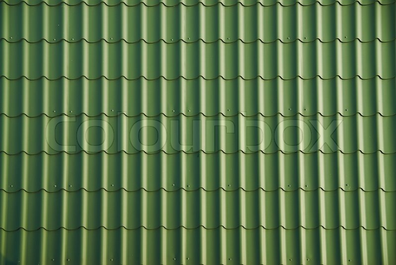 Green Roof Tile Stock Photo Colourbox