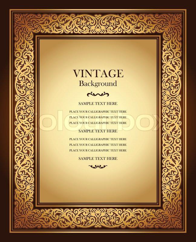 Old Book Cover Hd : Vintage background antike zierrahmen viktorianisch
