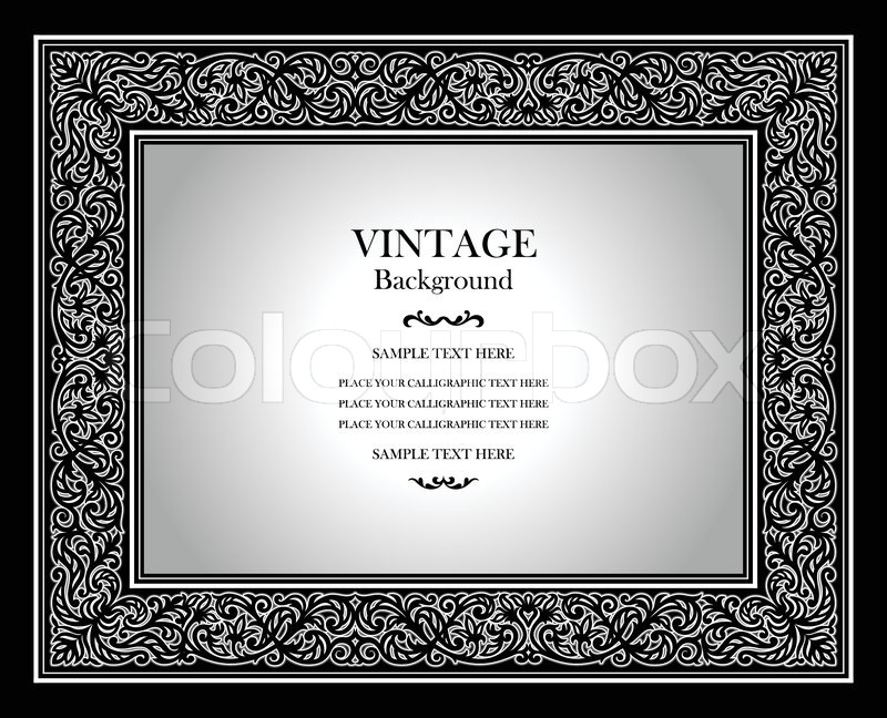 Vintage Background, Antique Ornamental Frame, Victorian Ornament, Beautiful  Old Paper, Luxury Certificate, Black And White Award, Royal Diploma, ...  Award Paper Template