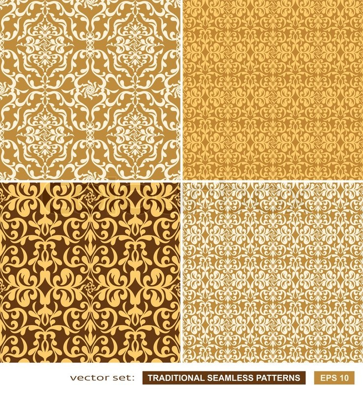 Vintage backgrounds, classic ornament, beautiful seamless pattern ...