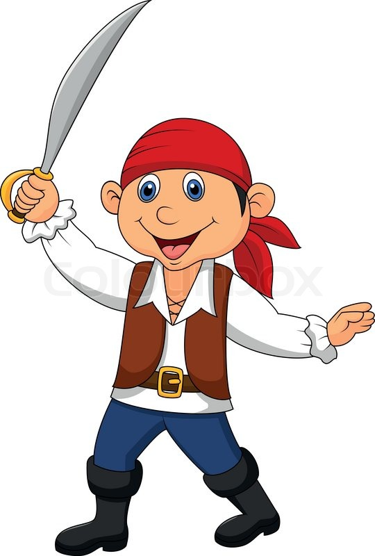 vector illustration of cute pirate kid cartoon stock vector colourbox - Cartoon Picture Of A Child