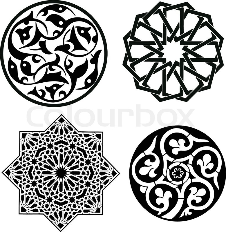 Islamic Patterns Stock Vector Colourbox