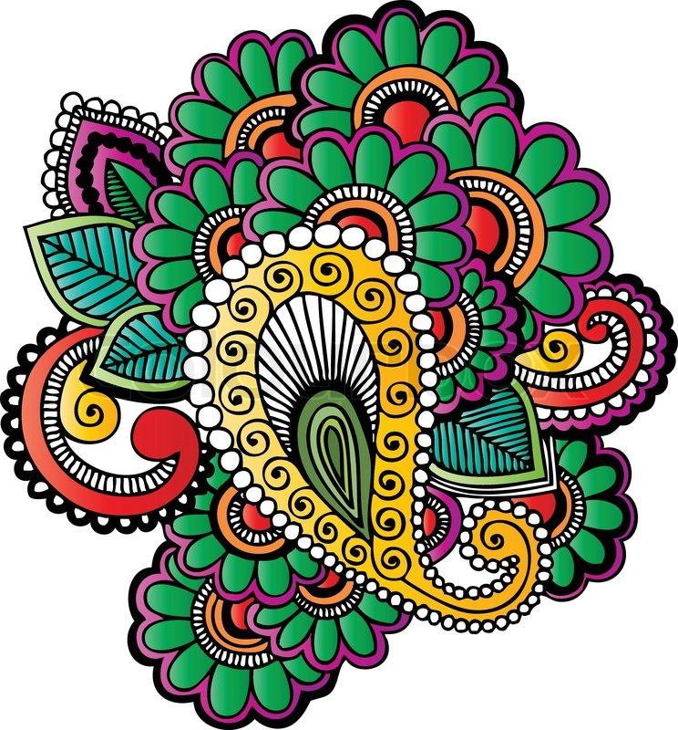 indian style henna tattoo stock vector colourbox rh colourbox com Royalty Free Vector Art Free Vector Line Art