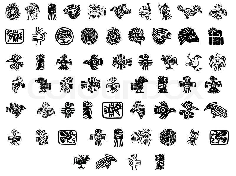 Mexican Or Maya Style Birds Stock Vector Colourbox