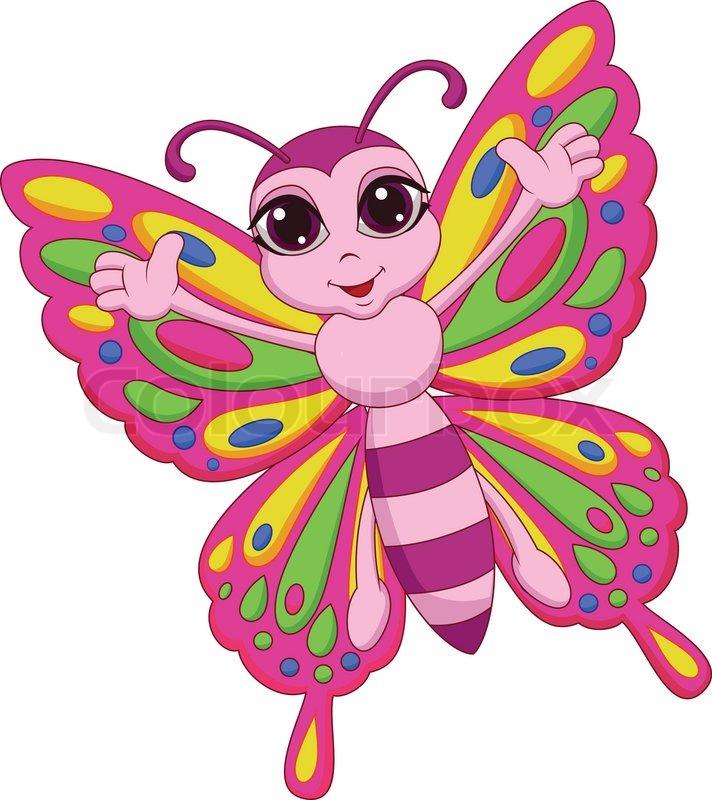 cute butterfly cartoon stock vector colourbox Toy Store Clip Art Toy Store Clip Art