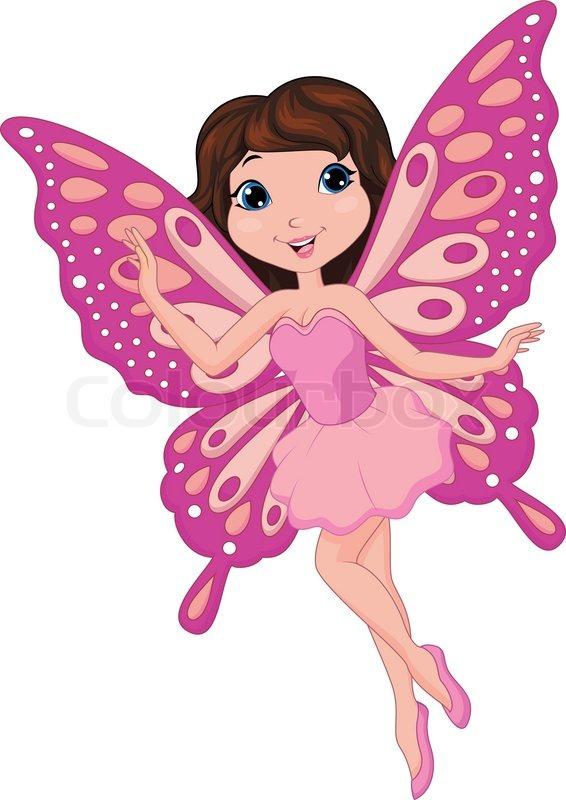 Cute Fairy Cartoon Vector 6768886 on Queen Clip Art