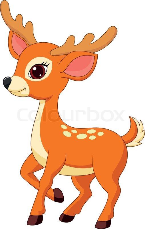 Cute deer cartoon  Stock Vector  Colourbox