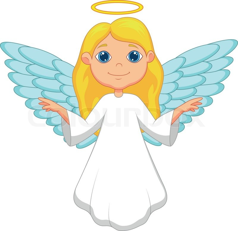vector illustration of white angel cartoon stock vector angel wing clip art images angel wing clip art images