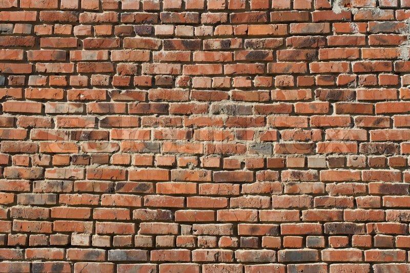 Old masonry of red brick texture, stock photo