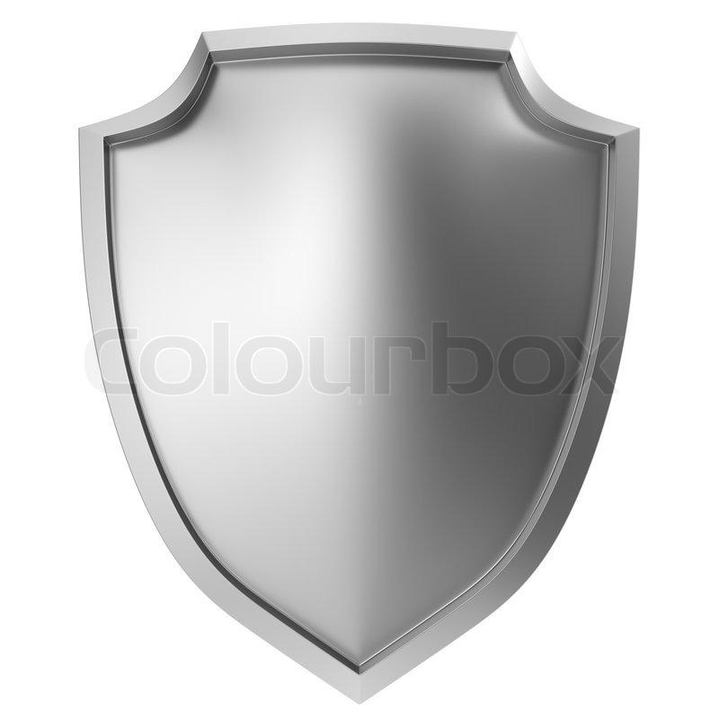 blank metal shield icon on white stock photo colourbox