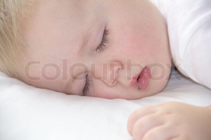 Face of cute little boy is sleeping, stock photo