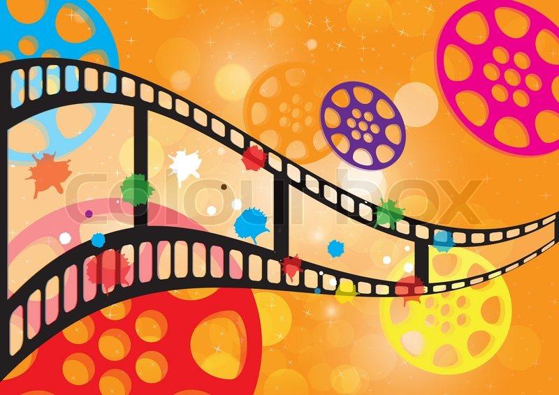 Background Film Vector Stock Vector Colourbox