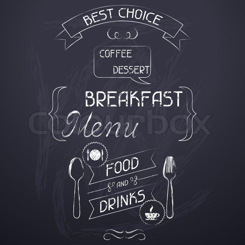 Frühstück Auf Der Restaurant- Menü Tafel