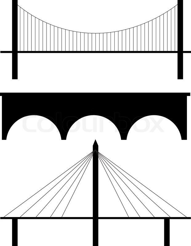 br cke silhouette vektor vektorgrafik colourbox. Black Bedroom Furniture Sets. Home Design Ideas