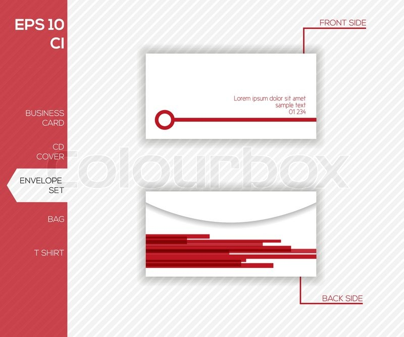 Corporate identity design for business - Abstract vector envelope ...