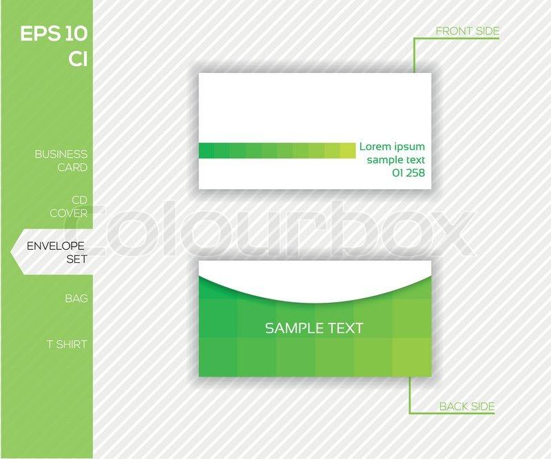 Corporate Identity Design For Business Stock Vector Colourbox