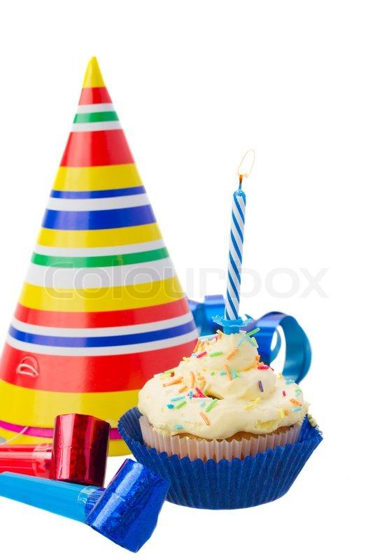 Geburtstag Cupcake Stockfoto Colourbox