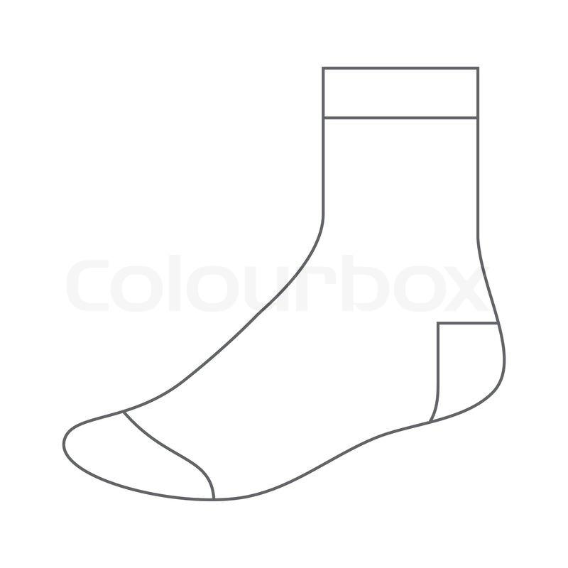 Set of blank socks stock vector colourbox sock template maxwellsz