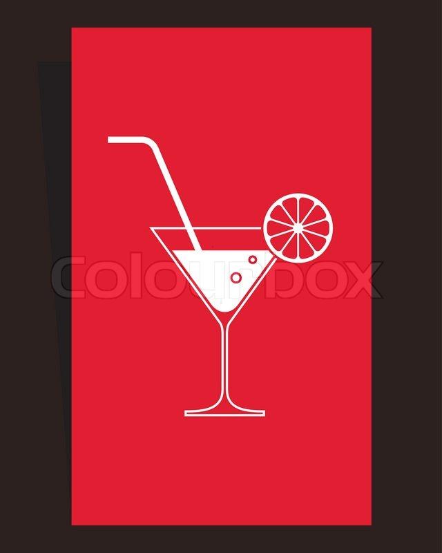 cocktail menu card design stock vector colourbox