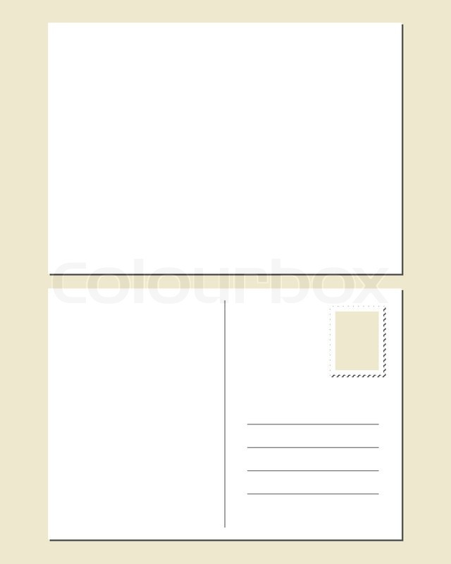 blank postcard front and back stock vector colourbox