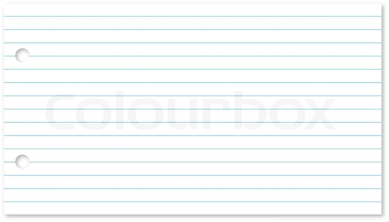 Blank Lined Notepad Page Isolated On White Background. | Stock