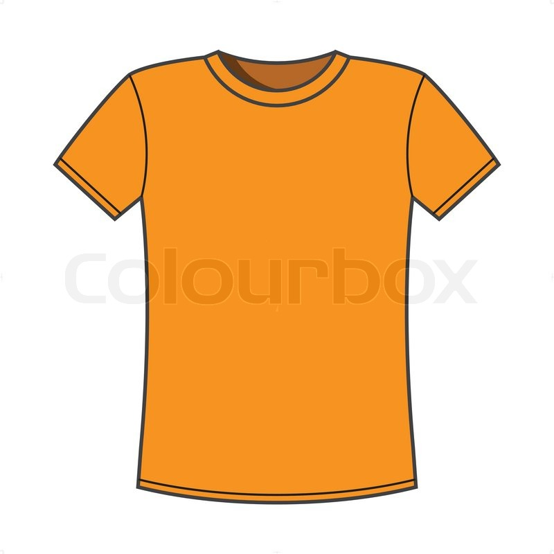 Blank Yellow T Shirt Template Vector