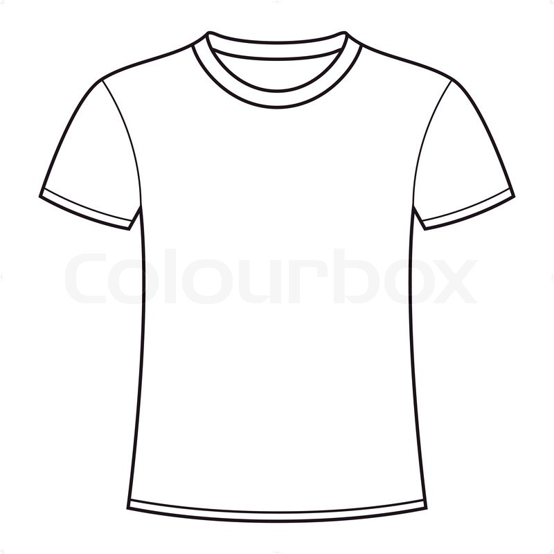 blank white t shirt template stock vector colourbox rh colourbox com tee shirt outline vector