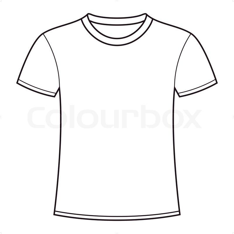 Blank White T Shirt Template Stock Vector Colourbox