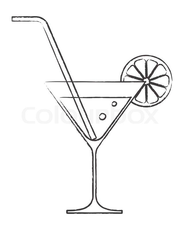 Cartoon Glass With Straw