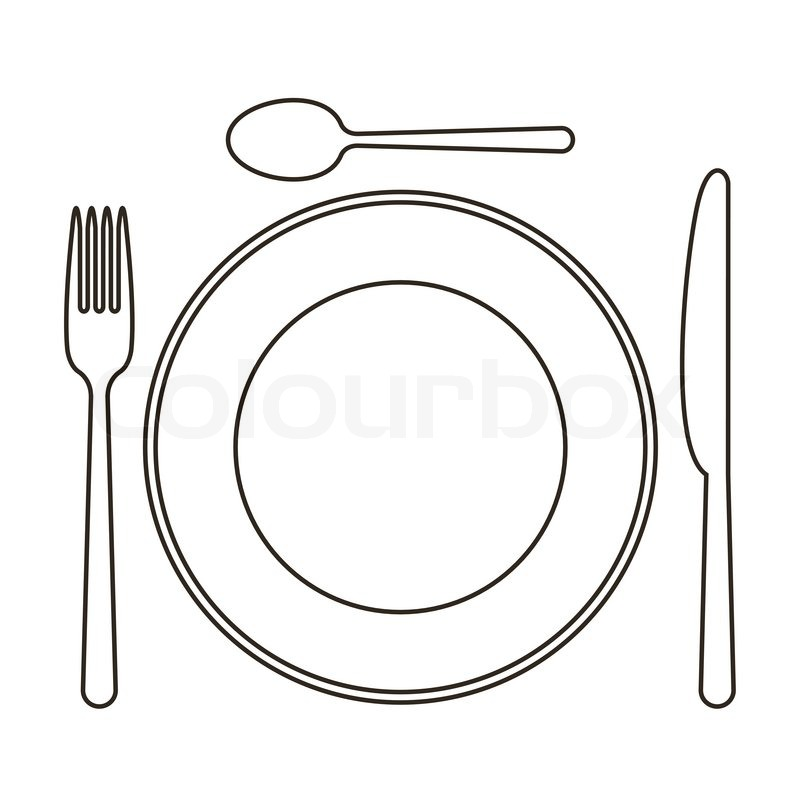 Plate Knife Spoon And Fork Vector Sc 1 St Colourbox  sc 1 st  pezcame.com & Fork Knife Spoon Table Setting \u0026 Download Table Setting Stock Image ...