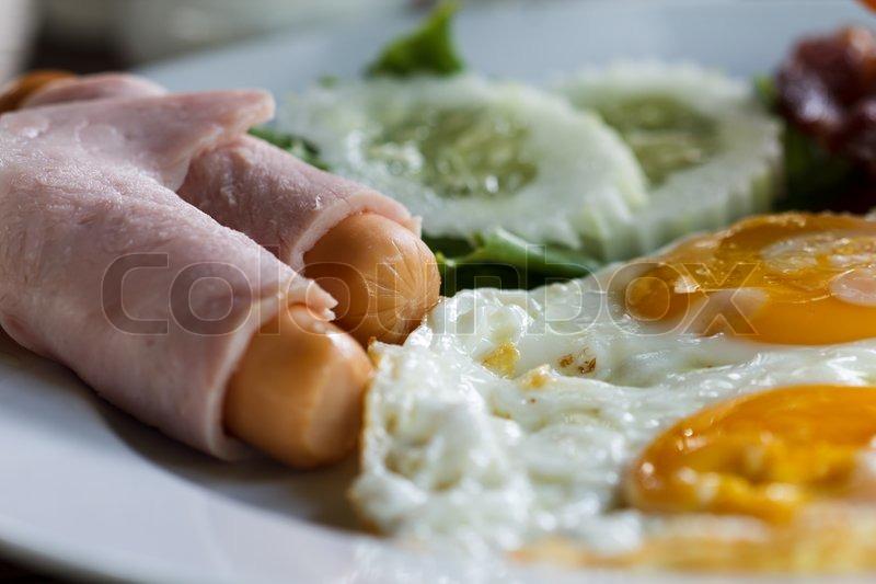 Amerikansk Morgenmad Stock Foto Colourbox