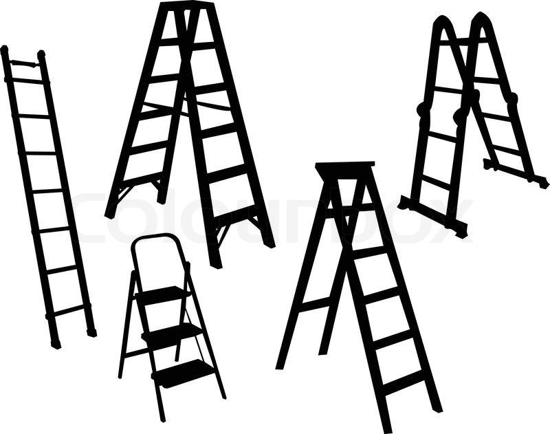 Step Ladder Gs Manufacturers Mail: Ladders Collection - Vector