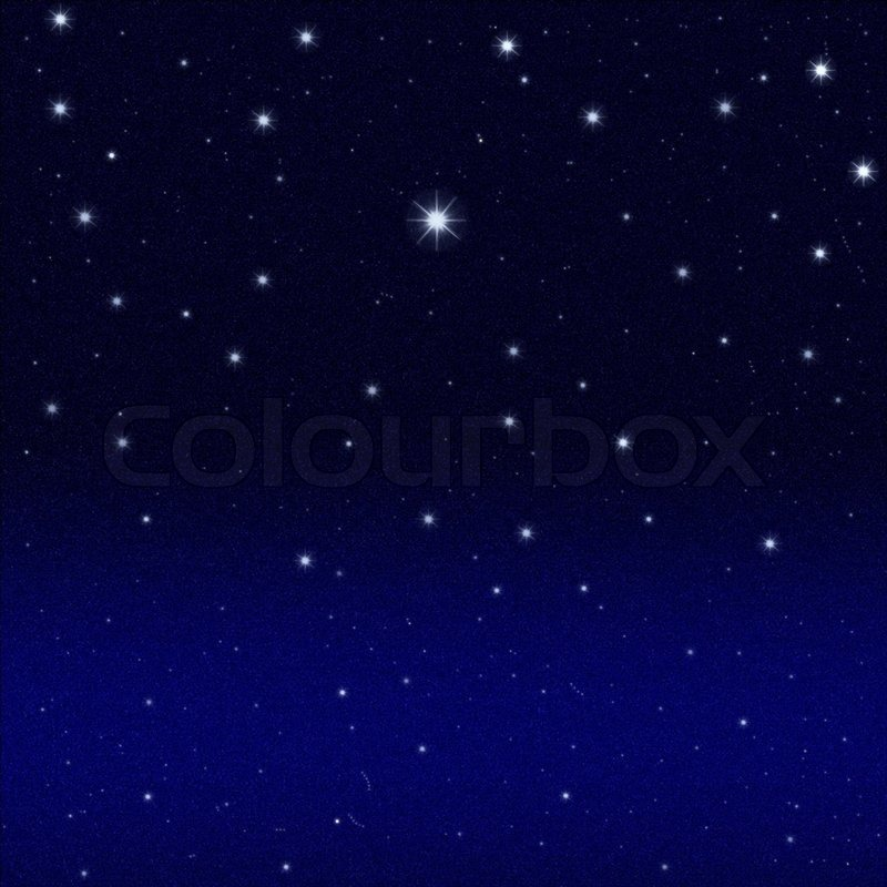 Black Night Starry Sky Background Stock Photo Colourbox