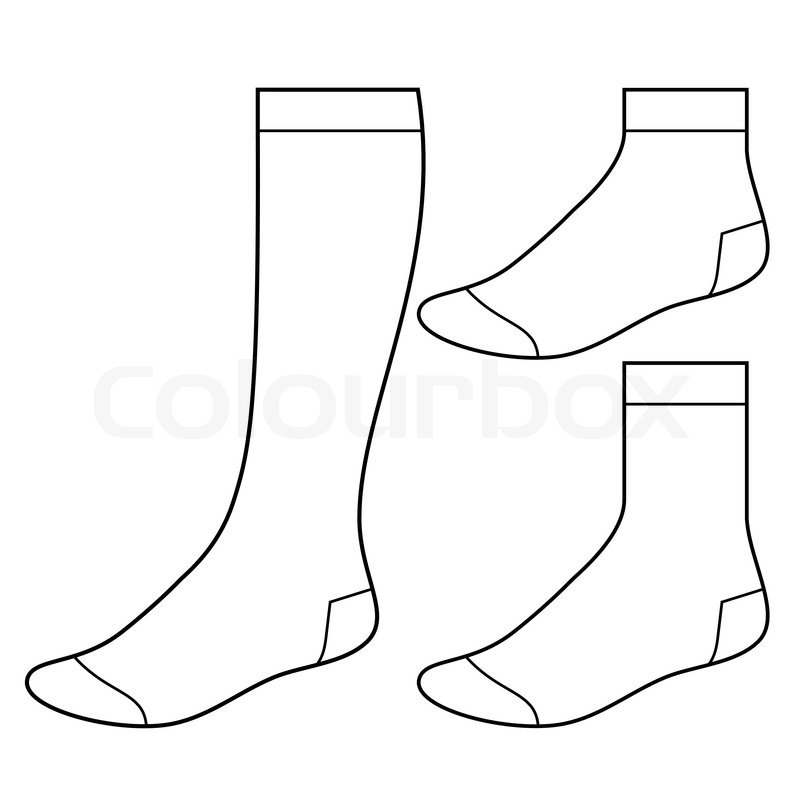 set of blank socks | stock vector | colourbox