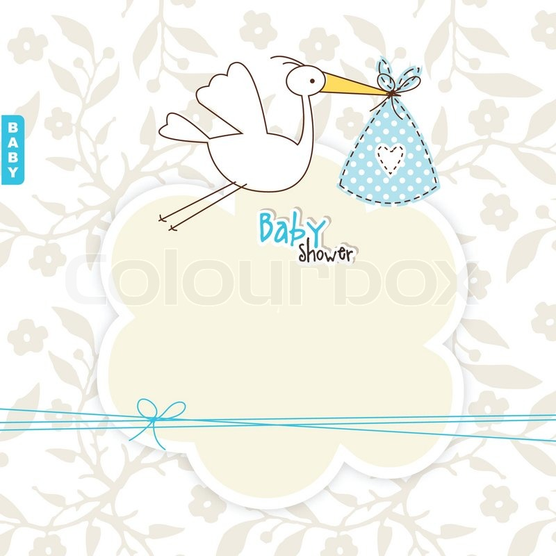 baby dusche karte mit kopie raum vektorgrafik colourbox. Black Bedroom Furniture Sets. Home Design Ideas