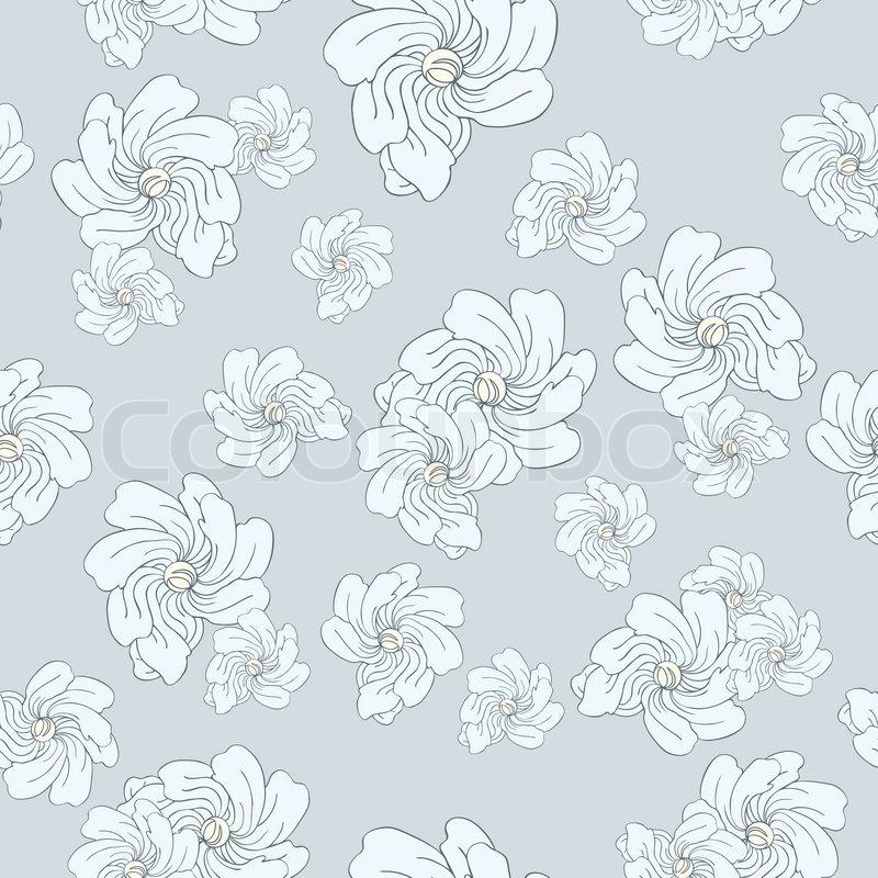 vintage dekorativen floralen hintergrund nahtlose muster mit blauen blumen farbige stoffe. Black Bedroom Furniture Sets. Home Design Ideas