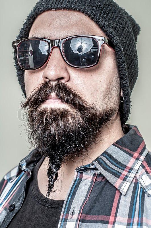 hipster skæg