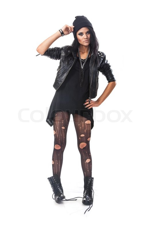 Young Woman Teenager Wears Grunge Style Stock Photo Colourbox