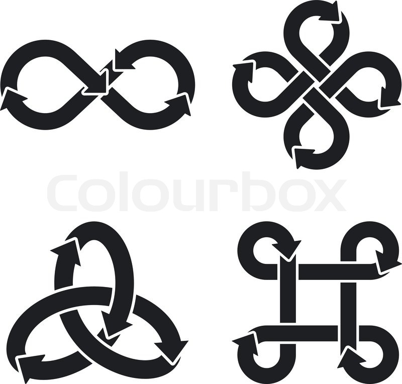 Infinity Symbol Icons Vector Illustration Stock Vector Colourbox
