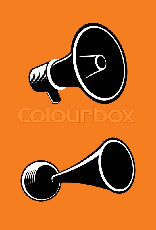 Icons of megaphone on orange background vector stock vector icons of megaphone on orange background vector vector publicscrutiny Gallery