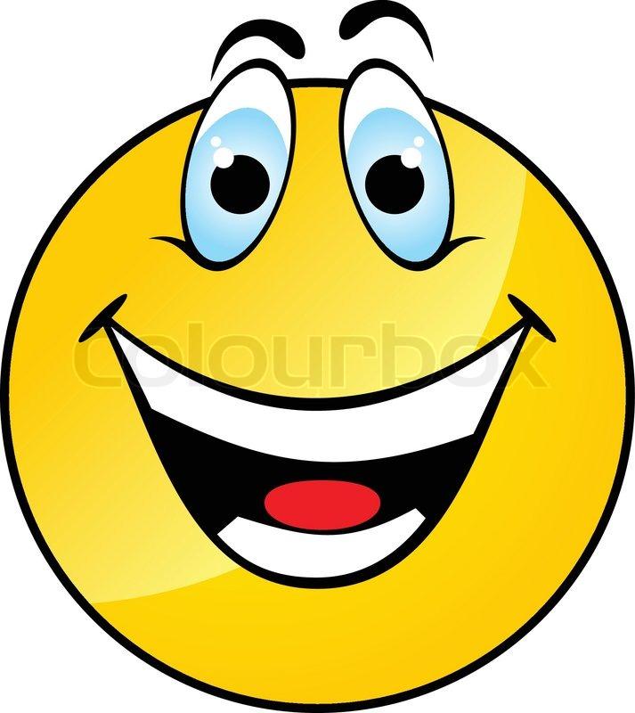 glad gul smile stock vektor colourbox