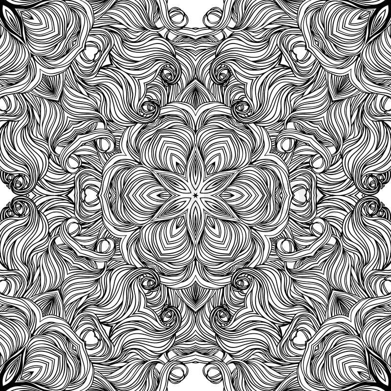mandala kreis muster ornamentale runden spitzen vektorgrafik colourbox. Black Bedroom Furniture Sets. Home Design Ideas