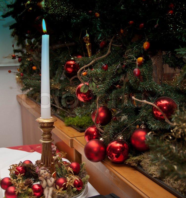 christmas decorations italy stock photo