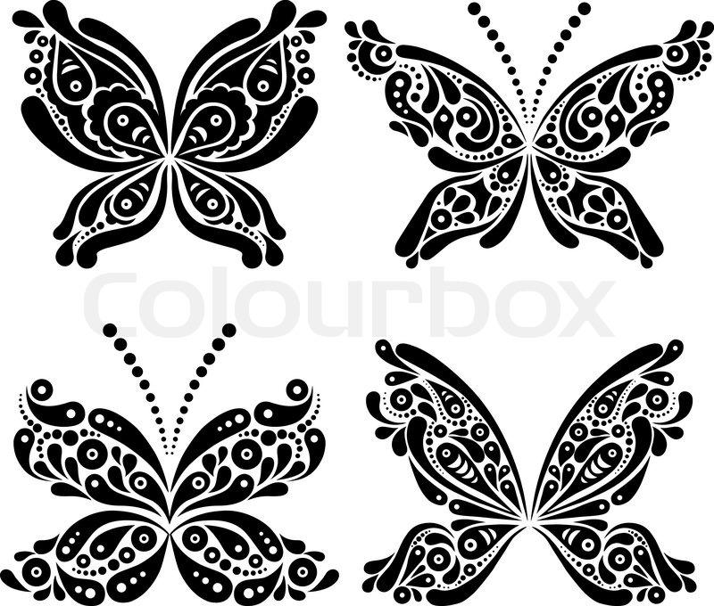 sommerfugl tatovering