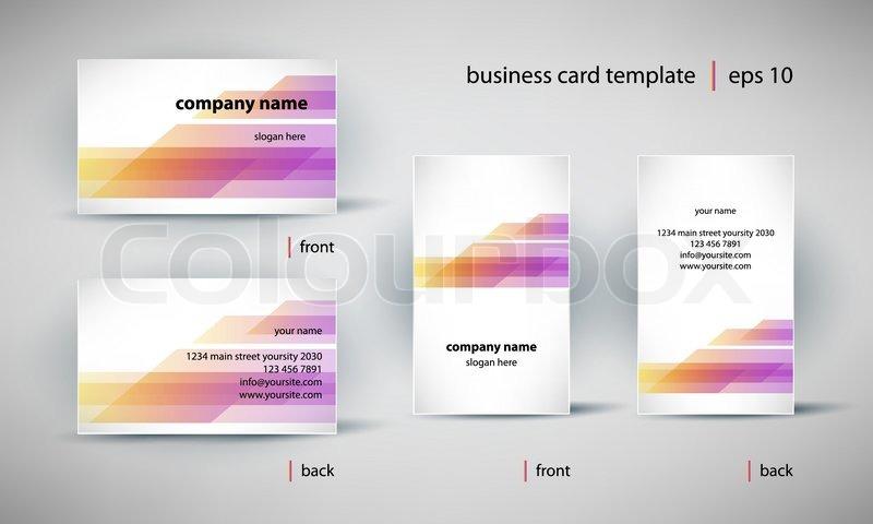 Visitenkarte Template Set Stock Vektor Colourbox